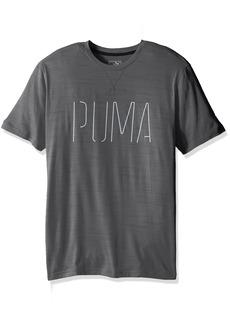 PUMA Men's Nightcat Short Sleeve Tee  Gray Heather/New Graphic