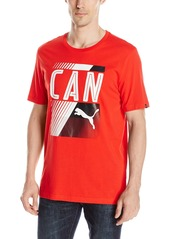 PUMA Men's Olympic Fan Tee Red/Can