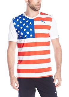 PUMA Men's Olympic Fan Wow Tee White/USA