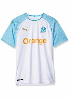 PUMA Men's Olympique DE Marseille Home Shirt Replica White/Bleu Azure M