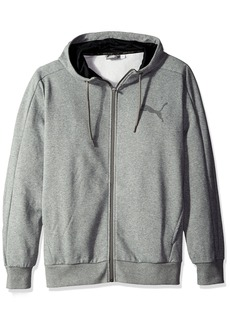 PUMA Men's P48 Core Full Zip Hoody Fleece  Gray Heather