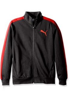 PUMA Men's P48 Core Track Jacket Dark Gray Heather red S