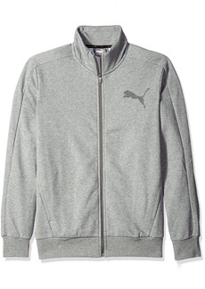 PUMA Men's P48 Core Track Jacket Fleece  Gray Heather