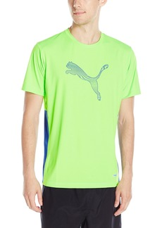 PUMA Men's PWR Cool Graphic Tee Shirt Green Gecko/Surf The Web