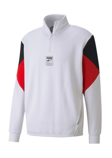 Puma Men's Rebel Quarter-Zip Fleece Sweatshirt