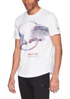 PUMA Men's Red Racing Double Bull T-Shirt White XL