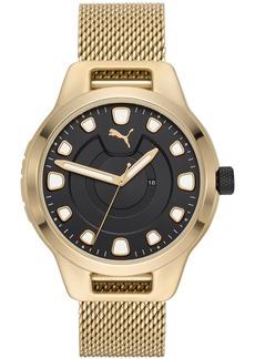 Puma Men's Reset Stainless Steel Mesh Braclet Watch 44mm