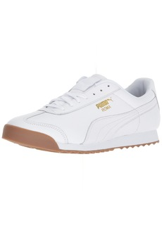 PUMA Men's Roma Classic Gum Sneaker White Team Gold