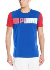 PUMA Men's Running Logo Tee Surf The Web
