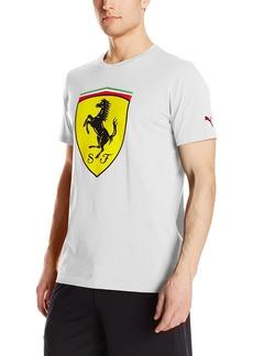 PUMA Men's Scuderia Ferrari Big Shield T-Shirt White M