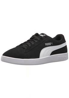 PUMA Men's Smash v2 Sneaker Black White Silver