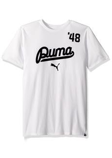 PUMA Men's Street Script T-Shirt White/Peacoat S