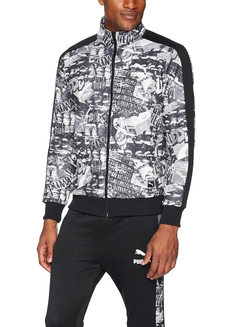 Mens T7 Track Jacket With Graffiti Print L
