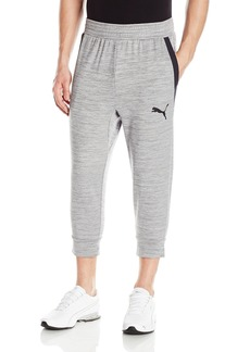 PUMA Men's Tech Fleece 3/4 Pant  Gray Heather
