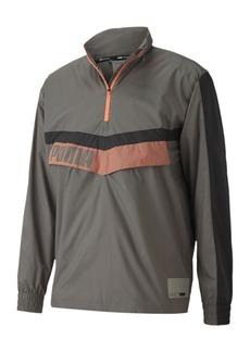 Puma Men's Train Woven Colorblocked Half-Zip Jacket