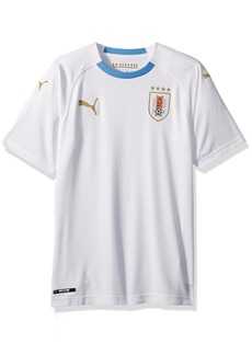 PUMA Men's Uruguay Replica Shirt Away White/Silver Lake Blue XL