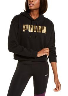 Puma Metallic Logo Fleece Hoodie