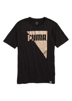 PUMA Metallic Logo T-Shirt (Big Boys)
