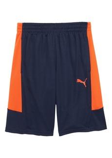 PUMA Performance Colorblock Shorts (Big Boys)