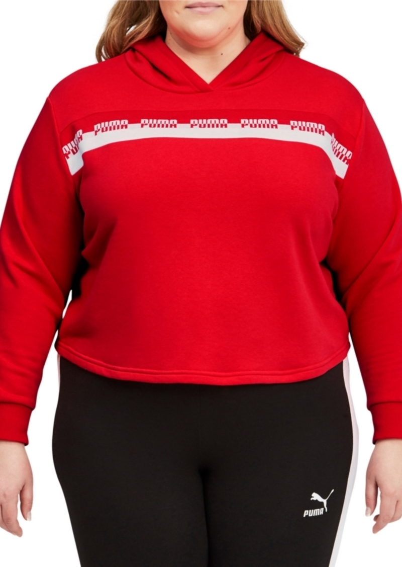 Puma Plus Size Amplified Cropped Hoodie