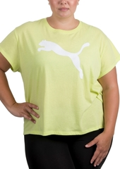 Puma Plus Size Cotton Logo T-Shirt