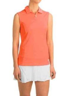 Puma Pounce Crest Golf Polo Shirt - Sleeveless (For Women)
