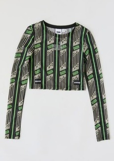 Puma Queen Long Sleeve Cropped Top