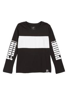PUMA Rebel Colorblock T-Shirt (Big Boys)