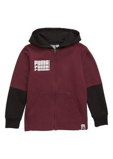 PUMA Rebel Fleece Zip Hoodie (Little Boys)