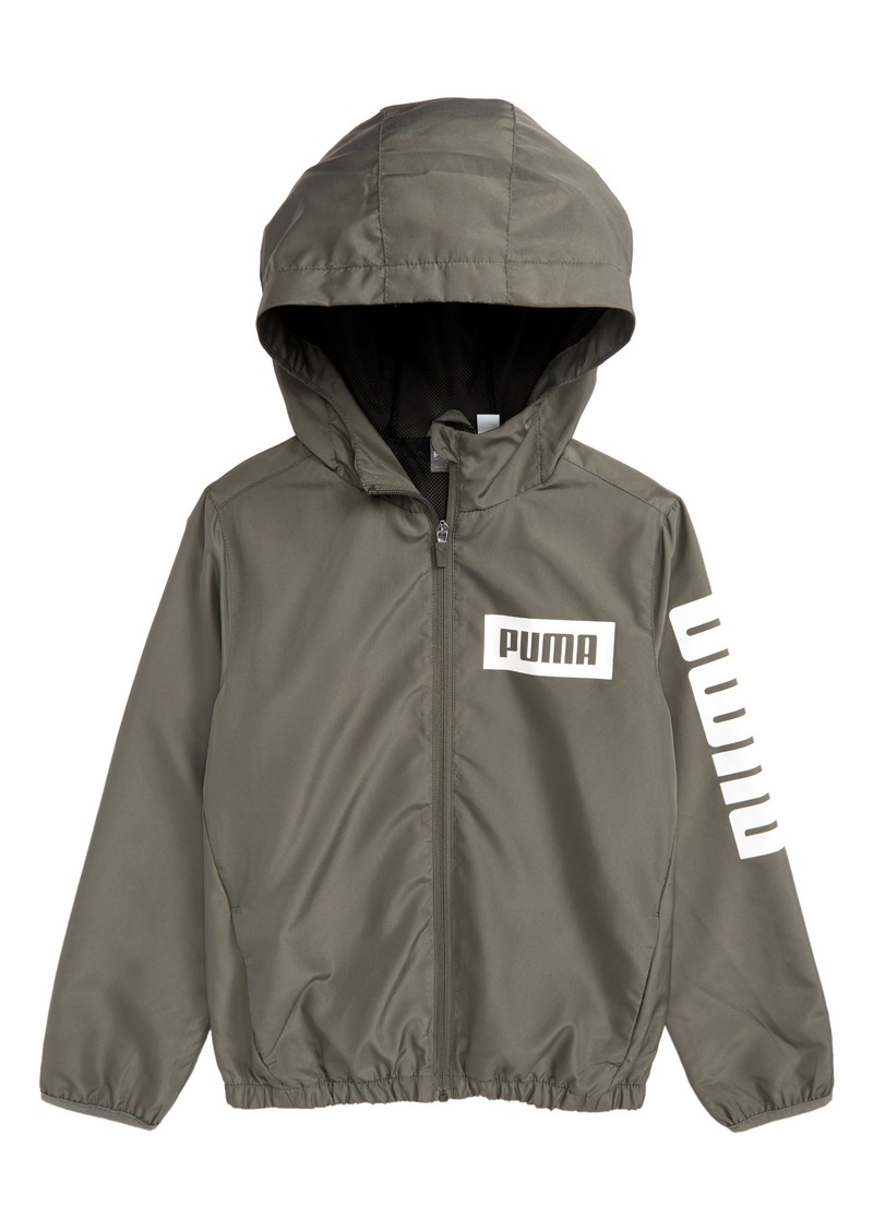 a6fd0bda9ba6 SALE! Puma PUMA Rebel Full Zip Hooded Windbreaker Jacket (Big Boys)