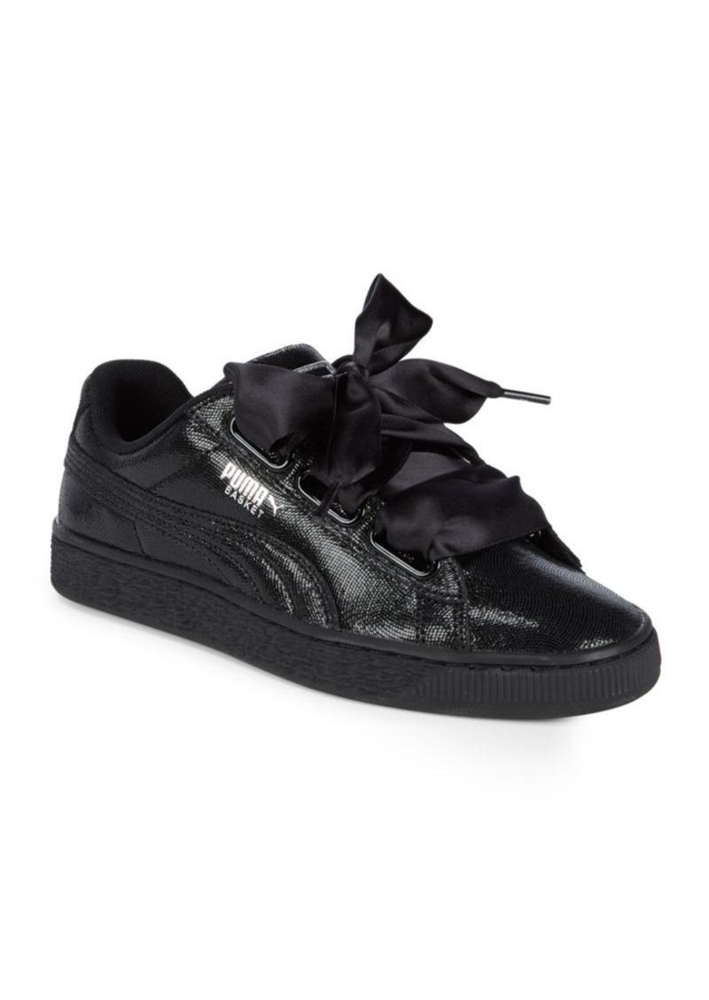 c1249a61086e Puma PUMA Ribbon Lace-Up Leather Sneakers