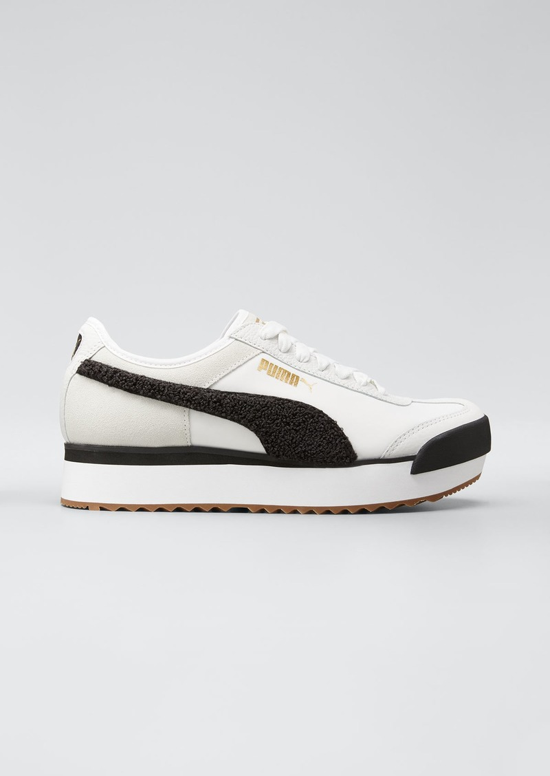 Puma Roma Amor Mixed Leather Platform Sneakers