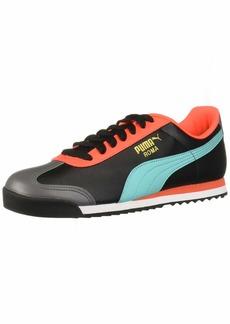 PUMA Roma Basic Sneaker Black-Blue Turquoise  M US
