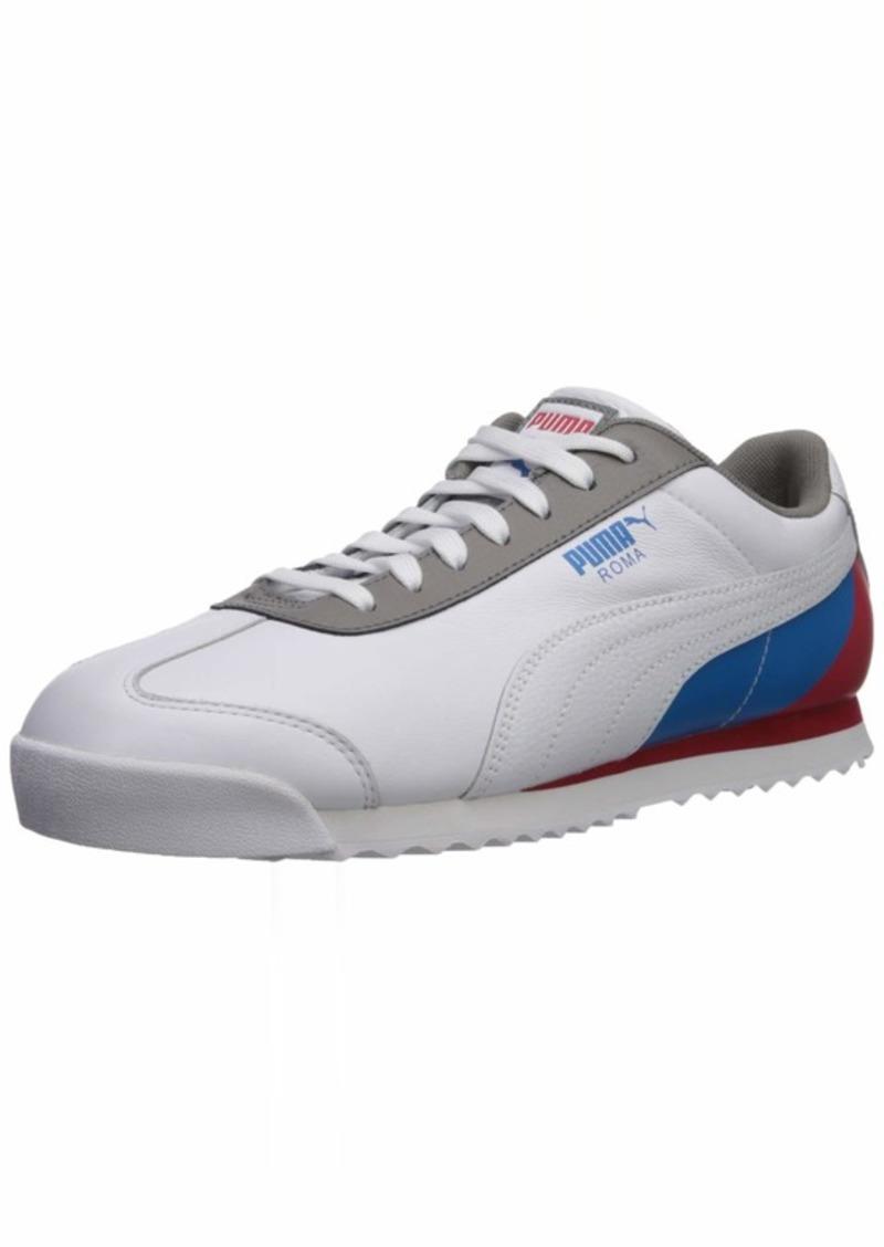 PUMA Roma Basic Sneaker White-High Risk Red-Indigo Bunting  M US