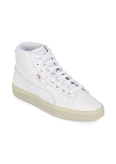 Puma Round Toe Mid-Top Sneakers