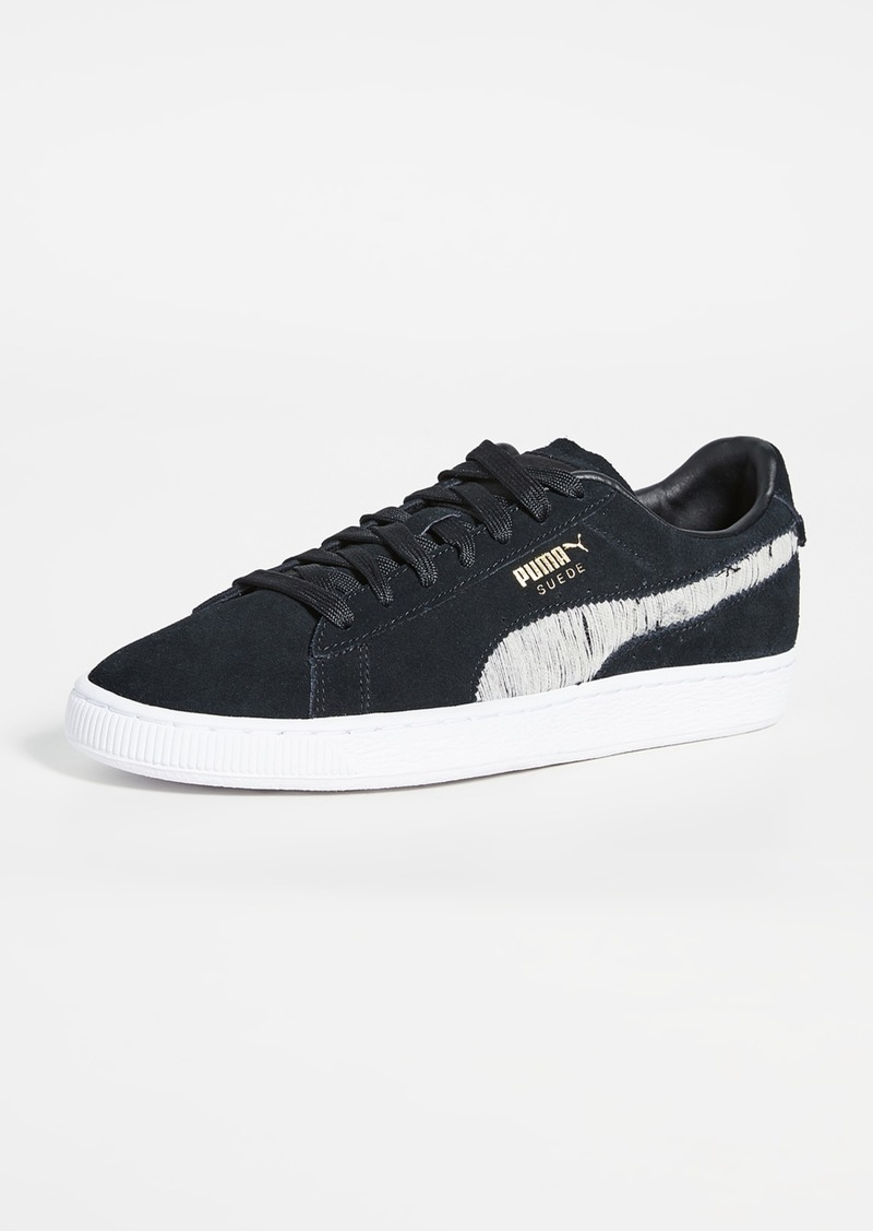PUMA Select Suede Ripped Denim Sneakers