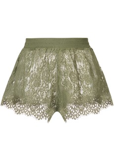 Puma sheer lace mini shorts - Green