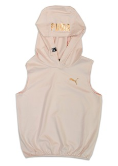 PUMA Shimmer Sleeveless Hoodie (Big Girls)