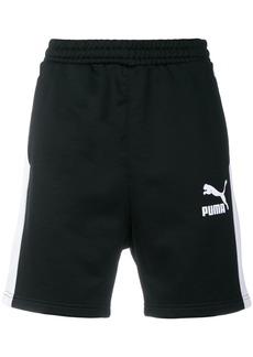 Puma side stripe logo shorts - Black