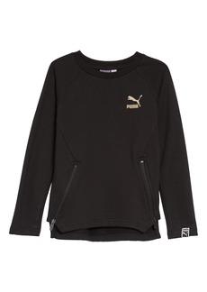 PUMA Side Zip Crewneck Sweatshirt (Toddler Boys & Little Boys)