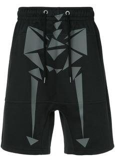 Puma skeleton print drawstring shorts - Black