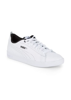 PUMA Smash Leather Perforated Sneakers