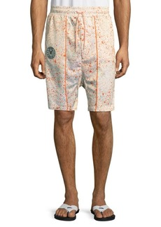 PUMA Splatter Drawstring Shorts