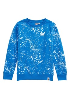 PUMA Splatter Print Fleece Sweatshirt (Big Boys)