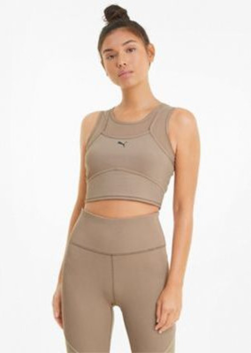 Puma Studio layered crop top in beige