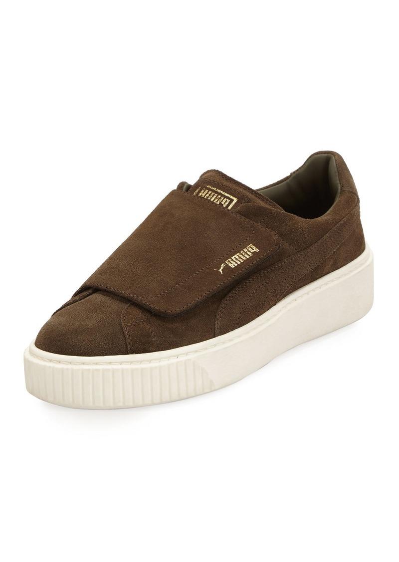super popular 75832 7b22c Suede Grip-Strap Platform Sneaker