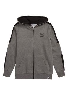 PUMA T7 Fleece Zip Hoodie (Big Boys)
