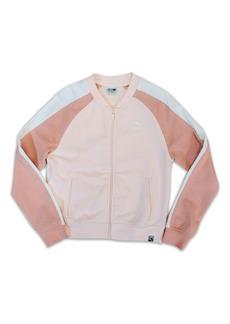 PUMA T7 Logo French Terry Track Jacket (Big Girls)