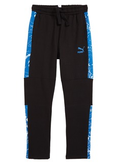 PUMA T7 Pieced Splatter Print Fleece Track Pants (Big Boys)