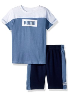 PUMA Toddler Boys' 2 Piece Tee & Short Set